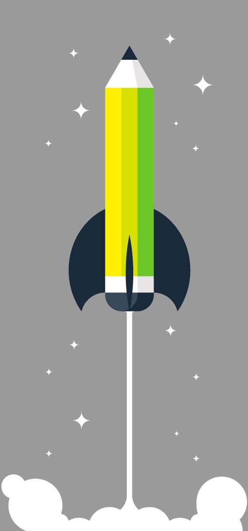 Rocket pencil
